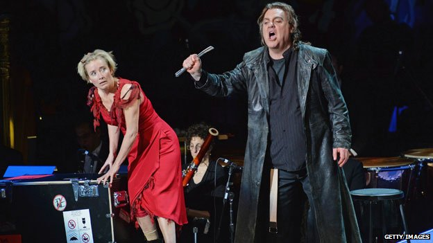 Emma Thompson and Bryn Terfel in Sweeney Todd: The Demon Barber of Fleet Street at the Lincoln Center in March 2014