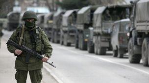 Russian military in Crimea, 1 Mar 14