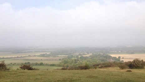 Mist in Oxfordshire from Watlington Hill
