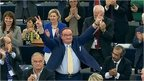 MEPs celebrate Ukraine vote