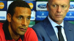 Rio Ferdinand and David Moyes