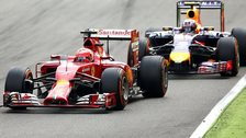 Ferrari and Red Bull at Italian GP