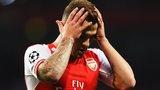 Arsenal's Jack Wilshire in action against Besiktas