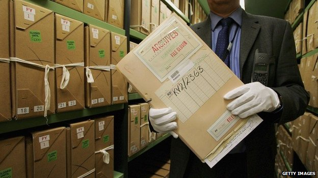 Files at the National Archives (c) Getty Images