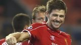 Liverpool's Steven Gerrard after his winning penalty against Ludogorets