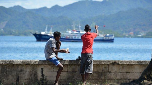 Fishermen in Fiji