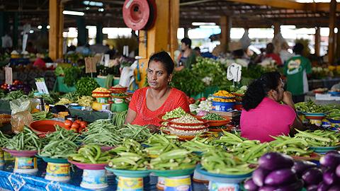 Market in Fiji's capital Suva