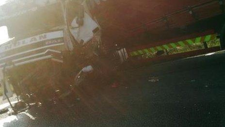 crash scene on \m62