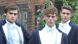 Douglas Booth, Sam Claflin and Max Irons in The Riot Club