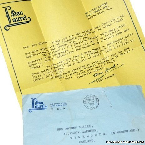 Stan Laurel letter
