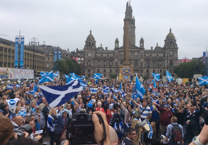 Yes campaigners in George Square