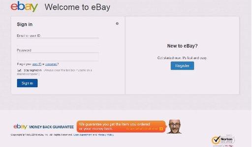Fake eBay site