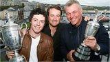 Rory McIlroy, Graeme McDowell and Darren Clarke