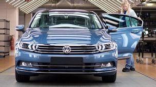 VW car in factory