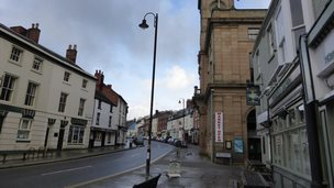 High Street, Welshpool, and part of Broad Street