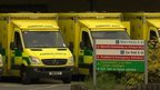 Ambulances outside Morriston Hospital