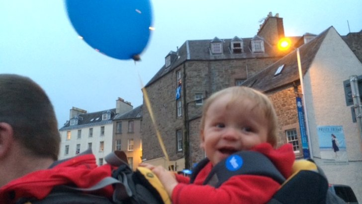 Young yes supporter