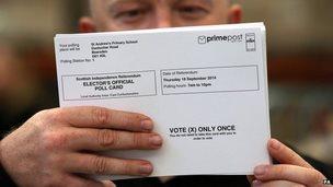 Poll card