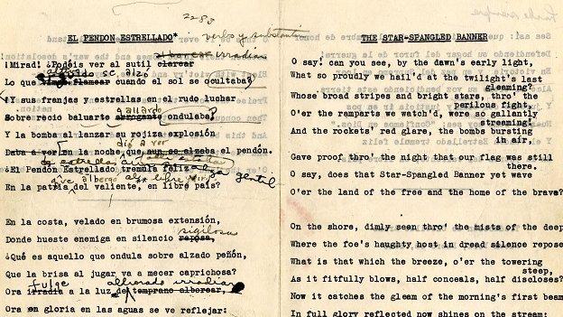 Arias' original manuscript