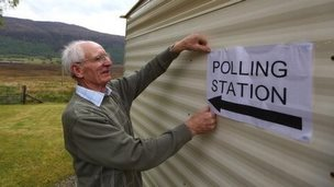 A polling station in Coulags, Scotland, 2011