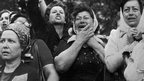 "Mothers of ""disappeared"" children protest in Argentina in this 1977 photo"