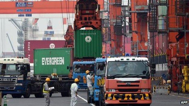 八月份日本贸易逆差缩小