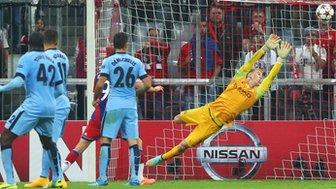 Joe Hart cannot save Jerome Boateng's winner for Bayern Munich