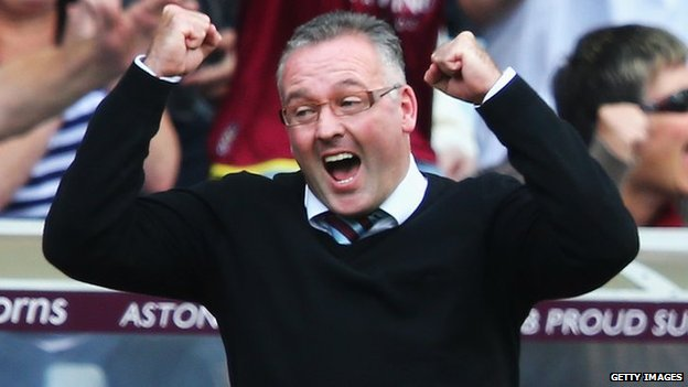Aston Villa manager Paul Lambert