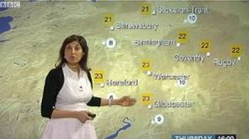 Shefalia Oza delivers the weather forecast