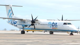 Flybe aircraft at Guernsey airport