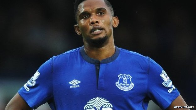 Everton forward Samuel Eto'o