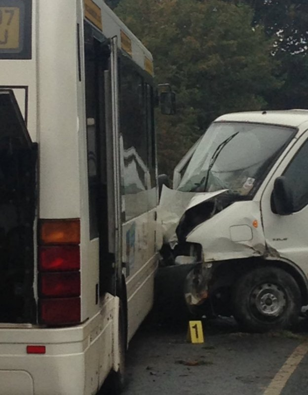 Bus crash near Darlington