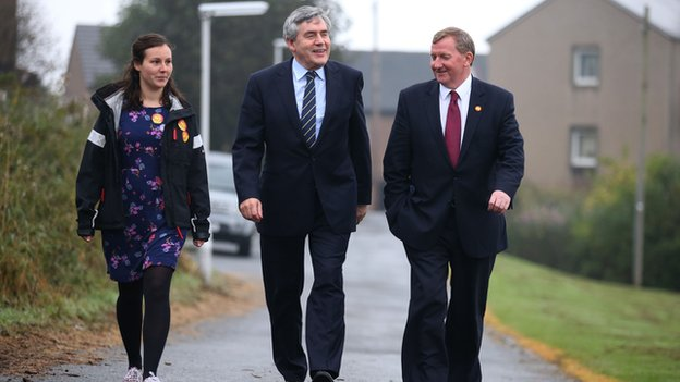Former prime minister Gordon Brown cast his vote in North Queensferry.