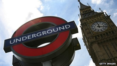 London Underground sign at Westminster