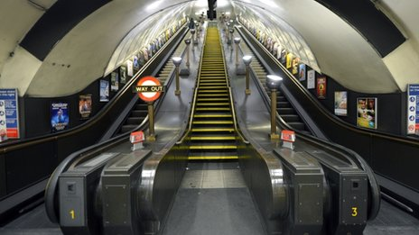 London Underground escalator at Swiss Cottage