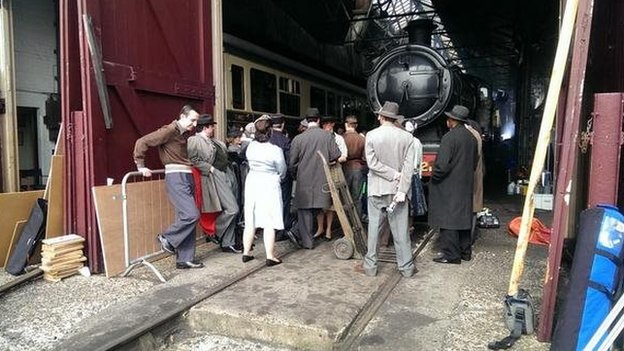 Filming at Didcot Railway Centre