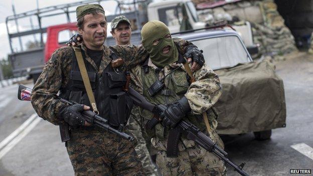 Pro-Russian rebels in Donetsk (10 Sept)
