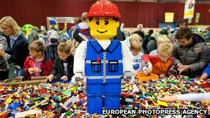 Children enjoy construction toys by Lego