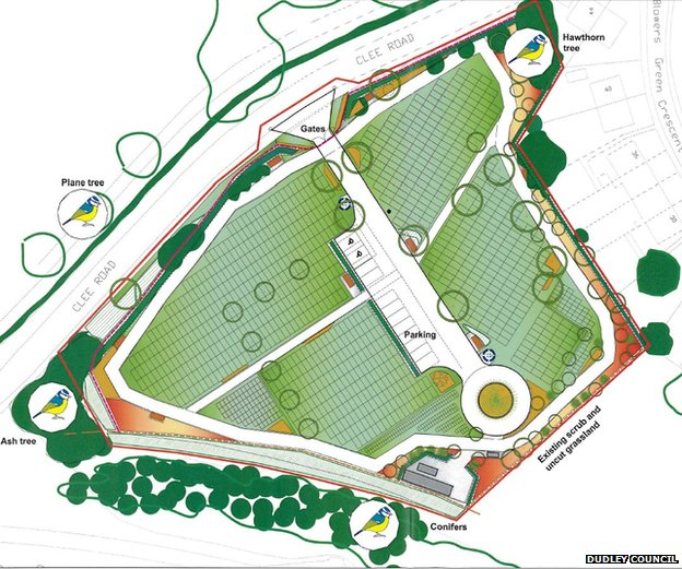 Plans for the new cemetery