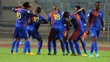 Cape Verde players celebrating