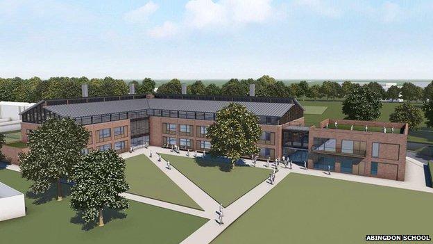 Abingdon School science centre graphic
