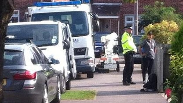 Bomb disposal robot in Bicester