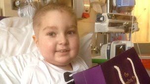 Laughlin Whiteley in hospital