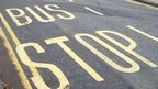 Bus road markings
