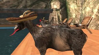 A screenshot from Goat Simulator