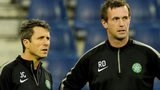 Celtic boss Ronny Deila (right) and his assistant John Collins