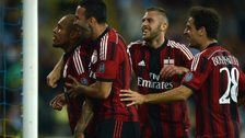 Nigel de Jong celebrates with teammates