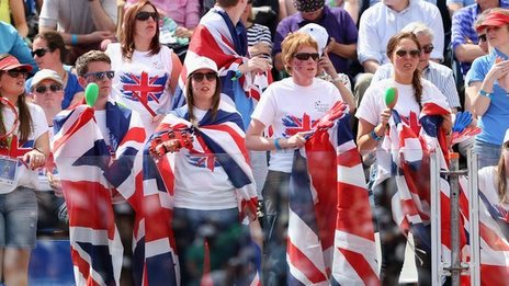 Great Britain supporters at the Davis Cup