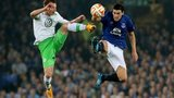 Gareth Barry challenges for the ball