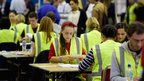 Tellers counting votes in Edinburgh